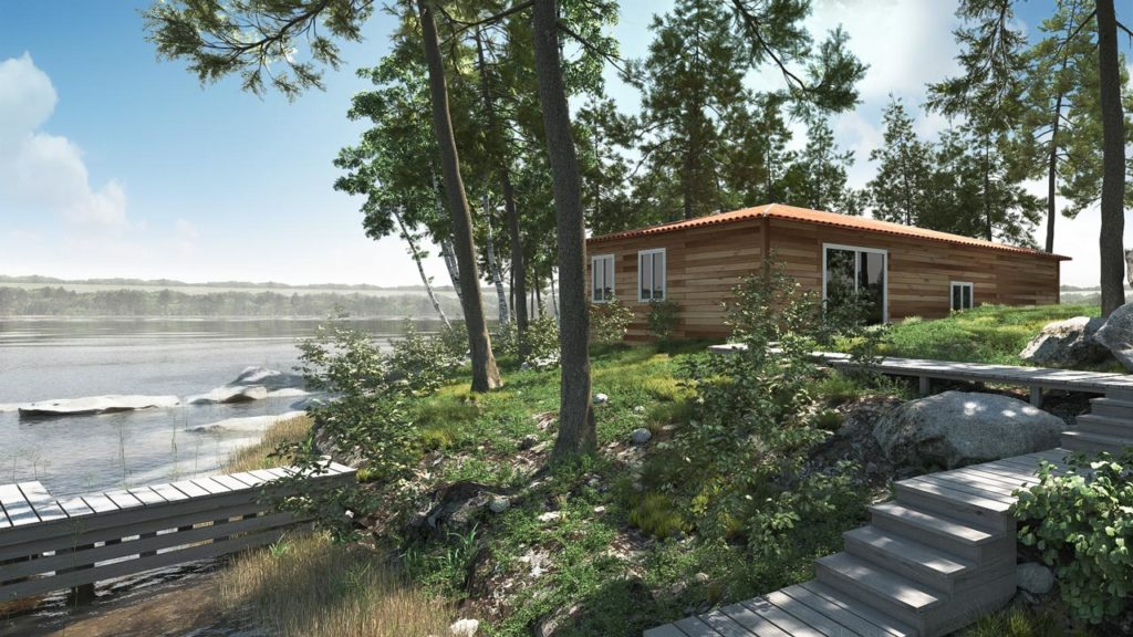 Casa modulare realizzata con il sistema costruttivo panhouse®  di Urania Group